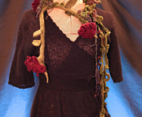 Mosshollow Wet-Felted Flower Garland - Front View